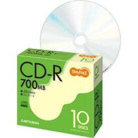 TANOSEE 三菱化学 SR80FC10T データ用CD−R 700MB 48倍速 5mmスリムケース入 10枚パック