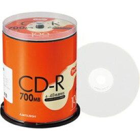TANOSEE 三菱化学 SR80FP100T データ用CD−R 700MB ホワイトプリンタブル スピンドル 100枚