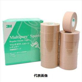 3M マルチポアスポーツレギュラー伸縮固定テープ 2743-25 12巻入 25mm×5m テーピング/スリーエム