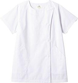 arbe SR-2304 白衣 半袖 女性用 ホワイト 7〜17号 白衣/医療/福祉/飲食/衣料/制服/ユニフォーム