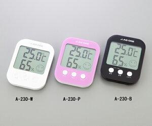 温湿度計 測定範囲(温度/湿度):-10〜+50℃/10〜98%RH 白(A-230-W)/ピンク(A-230-P)/黒(A-230-B)