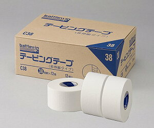 NICHIBAN ニチバン バトルウィン テーピングテープ C-タイプ(非伸縮)C38 38mm×12m 1箱12巻 テーピング/使いやすい/しっかりサポート