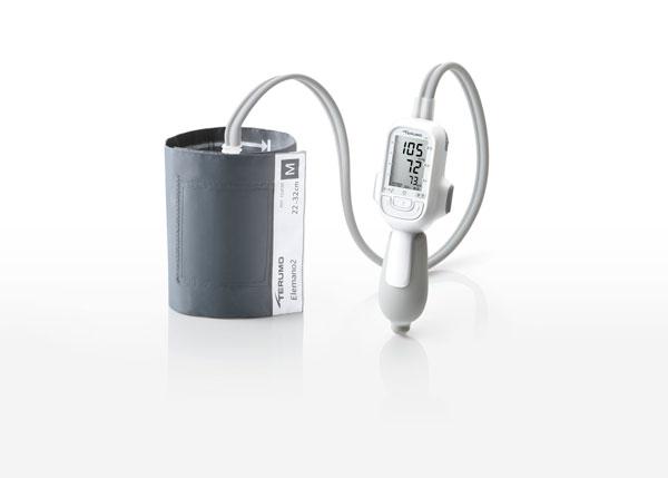 【あす楽】テルモ エレマーノ2 電子血圧計(ダブルカフ方式) 上腕式 ES-H56 ホワイト エレマーノ