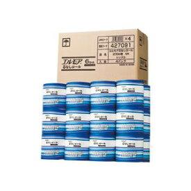 (まとめ)エルモア 芯なしロール 個包装 シングル 200m 24ロール(6ロール×4パック)