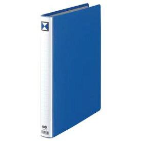 (まとめ) TANOSEE 両開きパイプ式ファイル A4タテ 200枚収容 背幅36mm 青 1冊 【×5セット】