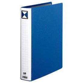 (まとめ) TANOSEE 両開きパイプ式ファイル A4タテ 400枚収容 背幅56mm 青 1冊 【×5セット】