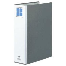 (まとめ) TANOSEE 両開きパイプ式ファイルE A4タテ 600枚収容 背幅86mm グレー 1冊 【×5セット】