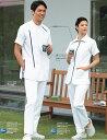 KAZEN(アプロン) メンズ半袖ジャケット ホワイト×ネイビー S〜5L  CIS300-C/28