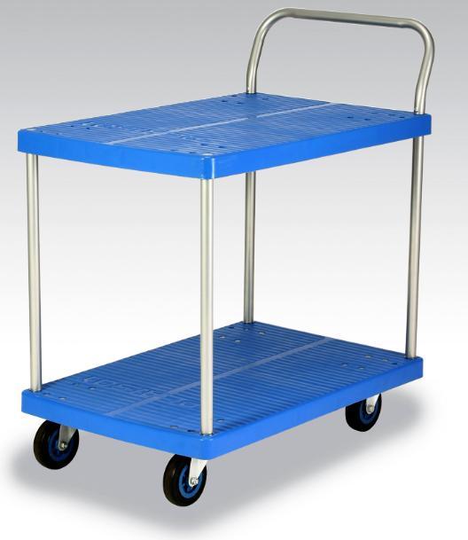 カナツー <ワイ(Y)シリーズ> テーブル2段式台車 PLA150Y-T2 150kgまで