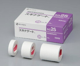 NICHIBAN(ニチバン) スキナゲート SG25 25mm×7m 12巻 サージカルテープ 極低刺激性絆創膏/小児可/高齢者可