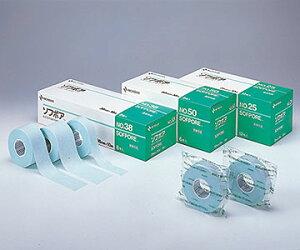NICHIBAN(ニチバン) ソフポア NO.25 25mm×10m 12巻 粘着性不織布伸縮テープ しっかり固定