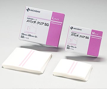 NICHIBAN(ニチバン) メパッチクリアSG M 33mm×55mm(サイズ) 1箱50シート(1シート2枚付) 角膜の乾燥・びらん防止/ドライアイの閉眼維持