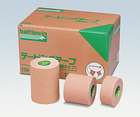 NICHIBAN ニチバン バトルウィン™ テーピングテープ E-タイプ(伸縮)E50 50mm×4m(伸長時) 1箱12巻 テーピング/ベージュ色/肘、膝、肩に適している
