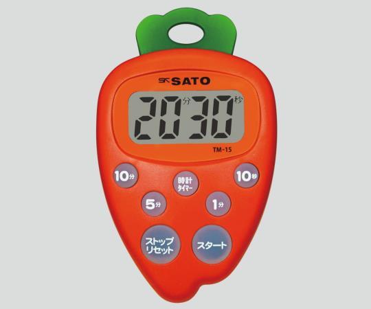 佐藤計量器(SATO) タイマー(野菜シリーズ) 8-6609-02 TM-15 にんじん タイマー ナースグッズ 計測機器 介護用品