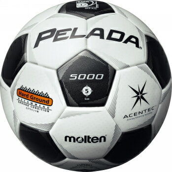 モルテン molten サッカー ペレーダ5000 土用 5号球 スノーホワイト×メタリックブラック 検定球 国際公認球 F5P5001