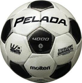 モルテン molten サッカー ペレーダ4000 土用 5号球 シャンパンシルバー×メタリックブラック 検定球 F5P4000