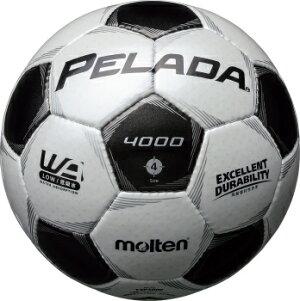 サッカーペレーダ4000土用4号球F4P4000シャンパンシルバー×メタリックブラック