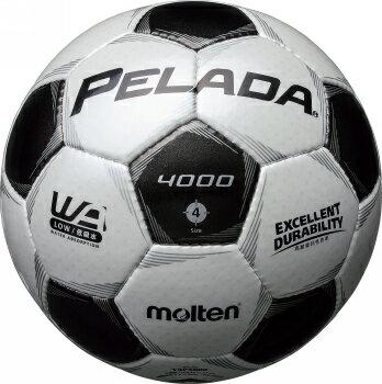 モルテン molten サッカー ペレーダ4000 土用 4号球 F4P4000 シャンパンシルバー×メタリックブラック 検定球