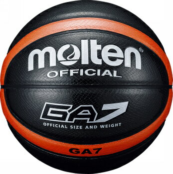 【人気商品です】モルテン molten バスケットボール GA7 7号球 ブラック 貼り・人工皮革 BGA7-KO