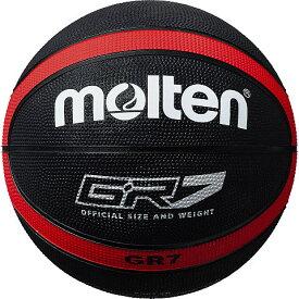 モルテン molten ゴムバスケットボール GR7 7号球 BGR7-KR ブラック×レッド