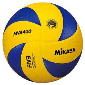 ミカサ MIKASA バレーボール 4号球 中学・家庭婦人用 ディンプル・人工皮革 検定球 MVA400