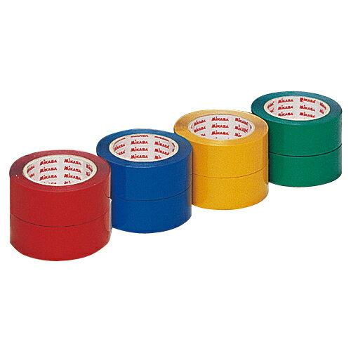 ミカサ MIKASA ラインテープ PP-400R レッド 赤 伸びないタイプ 直線用 幅40mm×長さ60m(2巻入)