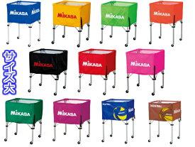 【ネーム1箇所無料!】ミカサ MIKASA ボールカゴ 屋内用 箱型 大 フレーム・幕体・キャリーケース3点セット 背高タイプ 高さ103cm BC-SP-H