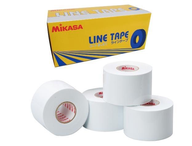 ミカサ MIKASA ラインテープ LTV-5025W ホワイト 白 伸びるタイプ 曲線用 幅50mm×長さ25m(4巻入)
