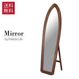 【週末クーポン配布中】【ミラー 鏡 セール】サーフミラー ミラー 鏡 姿見 サーフボード型 天然木 木製 福袋対象品