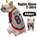 名入れ ビッグナンバー 背番号 ラグラン Tシャツ 【 犬の洋服 フレンチブルドッグ パグ 向け 犬 フレブル 服 メール便…