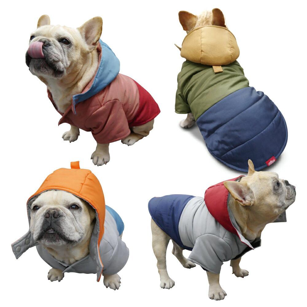 フレンチブルドッグ服 パグ服 トリコロールダウンコート(中綿) 【 フレンチブルドッグ服 パグ服 犬 服 犬服 犬の服 ダウンコート ダウンジャケット フレブル 洋服 】