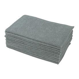 フェイスタオル 12枚 セット グレー 灰色 34x85cm 250匁 業務用タオル 業務用フェイスタオル 美容院 サロン エステサロン タオル まとめ買いで 送料無料 200匁 以上 250匁 ショートパイル
