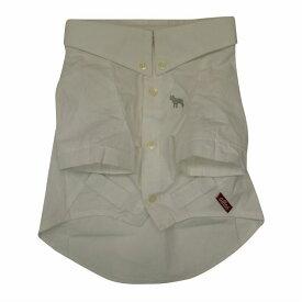 ボタンダウンシャツ2(Yシャツ)/ホワイト【犬の洋服 犬服 犬 の 洋服 フレンチブルドッグ服 パグ服 向け 犬 服 】【メール便OK】