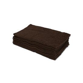 タオル 業務用 200匁 業務用 フェイスタオル 10枚セット ブラウン 茶色 無地 34x85cm 理容室 美容室 サロン タオル 薄い 業務用フェイスタオル ショートパイル 薄手 まとめ買いで 送料無料