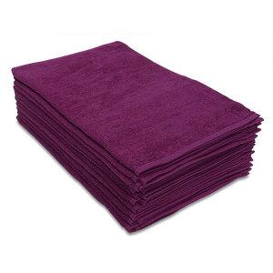 タオル 業務用 フェイスタオル 10枚セット パープル 紫色 34x85cm 業務用タオル 250匁 タオル 業務用フェイスタオル 美容院 サロン エステサロン ショートパイル まとめ買いで 送料無料 200匁 以