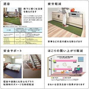 川島織物セルコンタイルカーペット(ユニットラグ)ケーブルニット(6枚入)ブルー【送料無料】