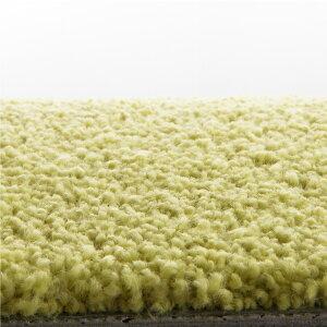 川島織物セルコンタイルカーペット(ユニットラグ)ソフティライン・プレーン(6枚入)イエローグリーン【送料無料】