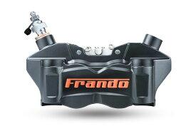FRANDO F80A 80mmピッチ 4POTラジアルマウントキャリパー ブラック/オレンジロゴ KTM DUKE390 RC390 BMW G310