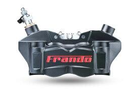 FRANDO F80A 80mmピッチ 4POTラジアルマウントキャリパー ブラック/レッドロゴ KTM DUKE390 RC390 BMW G310