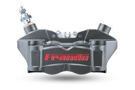FRANDO F80A 80mmピッチ 4POTラジアルマウントキャリパー ハードアルマイト/レッドロゴ KTM DUKE390 RC390 BMW G310