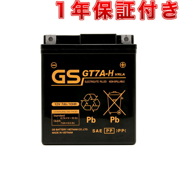 GSユアサ GTZ8V YTZ8V 互換品 ベトナム GSバッテリー GT7A-H 初期充電済み 1年補償 FURUKAWA FTZ8V 互換 PCX125 PCX150 CRF250RALLY LEAD125 YZF-R25 YZF-R3 MT-25 MT-03