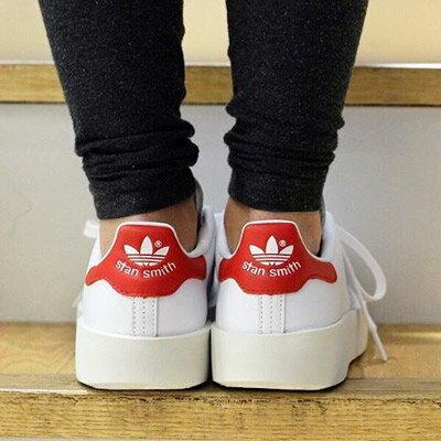 最大1,000円OFFクーポン配布中★ 【2/1 9:59まで】adidas Originals STAN SMITH BD W (アディダス オリジナルス スタンスミス BD W)Running White/Running White/College Red【レディース スニーカー】16FW-I