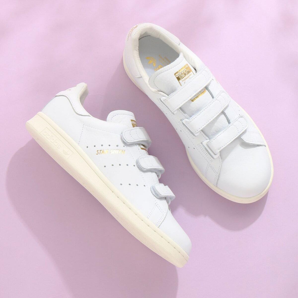 adidas Originals STAN SMITH CF(アディダス オリジナルス スタンスミス CF)Running White/Running White/Gold Met18SS-I