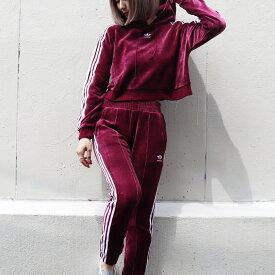 adidas Originals REGULAR TRACK PANTS CUF(アディダス オリジナルス レギュラートラックパンツCUF)MAROON【レディース パンツ】18FW-I