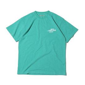 atmos OVERDYED CITY-LINE TEE(アトモス オーバーダイド シティーライン ティー)GREEN【メンズ 半袖Tシャツ】20SP-I