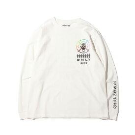 atmos MEMBERS LS TEE(アトモス メンバーズ ロングスリーブ ティー)WHITE【メンズ 長袖Tシャツ】20FA-S