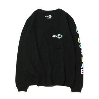 ATMOS LAB x藤田尼科尔TEAM LONG SLEEVE TEE(阿托摩斯实验室x fujitanikoruchimurongusuributi)BLACK 17SP-S