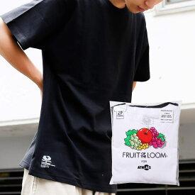 FRUIT OF THE LOOM x ATMOS LAB CREW NECK PACK TEE(アトモスラボ フルーツオブザルーム クルーネック パック ティ)BK / WHT【メンズ Tシャツ】18SS-I