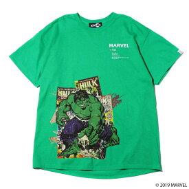 MARVEL x ATMOS LAB TEE HULK (マーベル アトモスラボ ティ ハルク)GREEN【メンズ 半袖Tシャツ】19SP-S