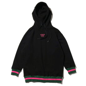 atmos pink リブラメ パーカー(アトモスピンク リブラメ パーカー)BLACK【レディース パーカー】18HO-I